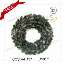 "D12""New Design of 2017 Artificial Plastic Wreath"