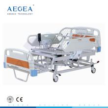 Posición plegable de la silla AG-BM119 con la cama de hospital eléctrica del precio barato del tablero de la cama de la malla
