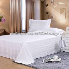 T/C 3cm sateen stripe fabric for hotel bedding set