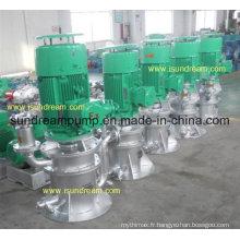Pompe de ballast centrifuge de cale d'eau d'individu-amorçage vertical marin, pompe de refroidissement et pompe à incendie