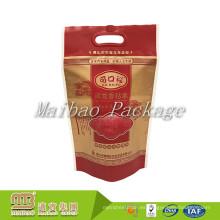 El fabricante de encargo del color de la marca del fabricante de China cortó con tintas la manija cortó el bolso plástico laminado del arroz de Eco para al por mayor