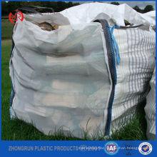 New designed ventilated big bags for firewood , wood pellet mesh bags 500kg