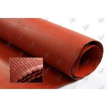 Prix d'usine Tissu en fibre de verre revêtu de silicone à une couleur rouge