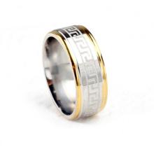 Último anel de homens simples anéis de titânio de aço inoxidável jóias anel O