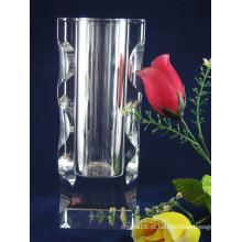 2014 novo design claro cristal vaso, vaso de vidro (ks15043)