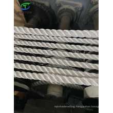Factory Price 3 Strand White Polyester/Nylon/Sythetic/Marine/Mooring/Packing/Lifting/Twist/Twisted Cargo Net Rope