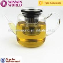 Elegant Heat Resistant Glass Tea Pot With Stainless Steel Tea Filter