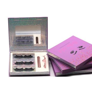 3D510H Hitomi Luxury 3d Mink Eyelashes Real Mink Fur Lashes Fluffy 25mm Magnetic Eyelashes with Eyeliner and tweezers