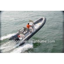 casco rígido de fibra de vidrio barco inflable RIB650