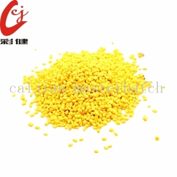 Yellow Plastic Masterbatch Granules