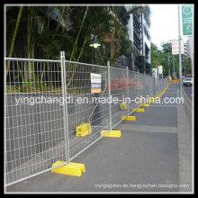 Nachher mit PVC-Pulver Malerei temporäre Zaun verzinkt