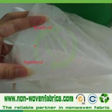 Ss (Spunbond + Spunbond) Tecido não tecido para saco de arroz