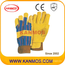 Yellow Pig Split Leather Industrial Safety Winter Work Gloves (21302)