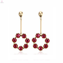 Hot Sale 2017 Fashion Gold Plating Vintage Flower Earrings Drop