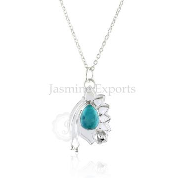 Оптовый Поставщик Бирюза 925 Серебряное ожерелье