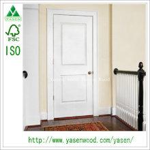 Porte en bois peint design à panneau surélevé