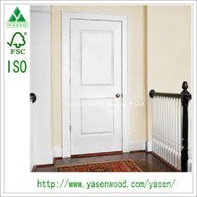 Porta de madeira pintada do projeto levantado do painel