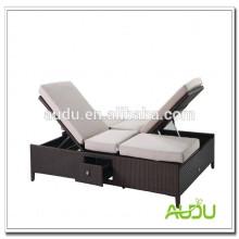 Audu Rattan Silla de playa doble silla ajustable