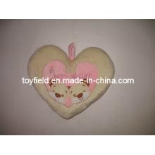 Almofada de travesseiro de coração Almofada de pelúcia de pelúcia