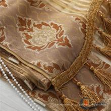 Tecidos de cortina contínua de poliéster de seda turca