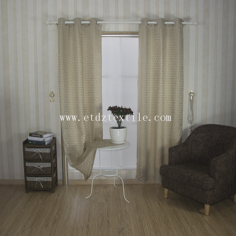 Typcial Design for Home Window Curtain WZQ163 Ivory