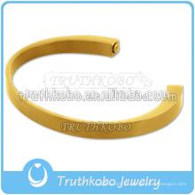 La pulsera más nueva del recuerdo de la urna de la urna de la cremación plateada del oro que abre la pulsera de la media luna para la ceniza
