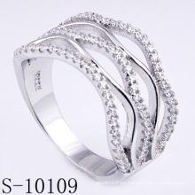 Nuevo diseño Micro Pave 925 Silver Zirconia Women Ring (S-10109)