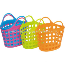 Hot sales storage basket with LDPE material plastic baskets with handles