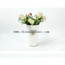 Émail décoration simple fleur vase