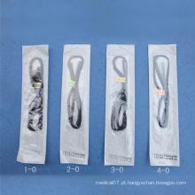 Sutura de poliéster não esterilizado e esterilizado para uso individual