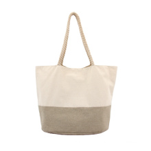 Natural Cotton Canvas Bags Sustainable Linen Tote Bag Foldable Reusable Shopping Bag