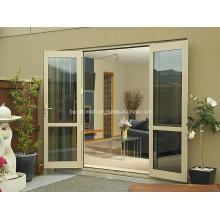 Бесшовная анти-влажность Двойные стеклянные алюминиевые окна и двери