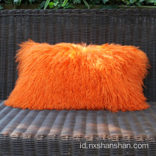 Ukuran Custom Lamb Fur Sarung Bantal Sarung Bantal