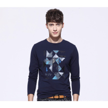China Factory Men′s Long Sleeves Customized Printing T Shirt