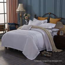 Manufacturer in China Embroidery Bed Sheet Cotton Hotel Bedding Set