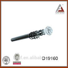 D19160 curtain rod crystal drapery finials and glass curtain pole finials