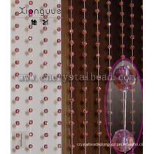Pink color Crystal ball Door Curtain