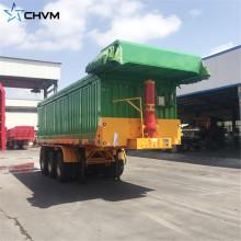 Caminhão basculante da descarga traseira do cilindro hidráulico de 3 eixos 100ton