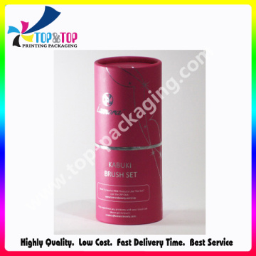 Hermoso diseño personalizado tamaño del cilindro de papel cosmético empaquetado tubo