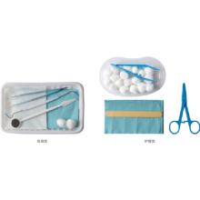 Kits de instrumentos para atendimento odontológico para exames descartáveis
