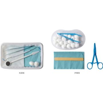 Kits de instrumentos de cuidados dentários para exames descartáveis