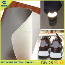 Reflector Silver PU para calzado deportivo / zapatos reflectantes Material