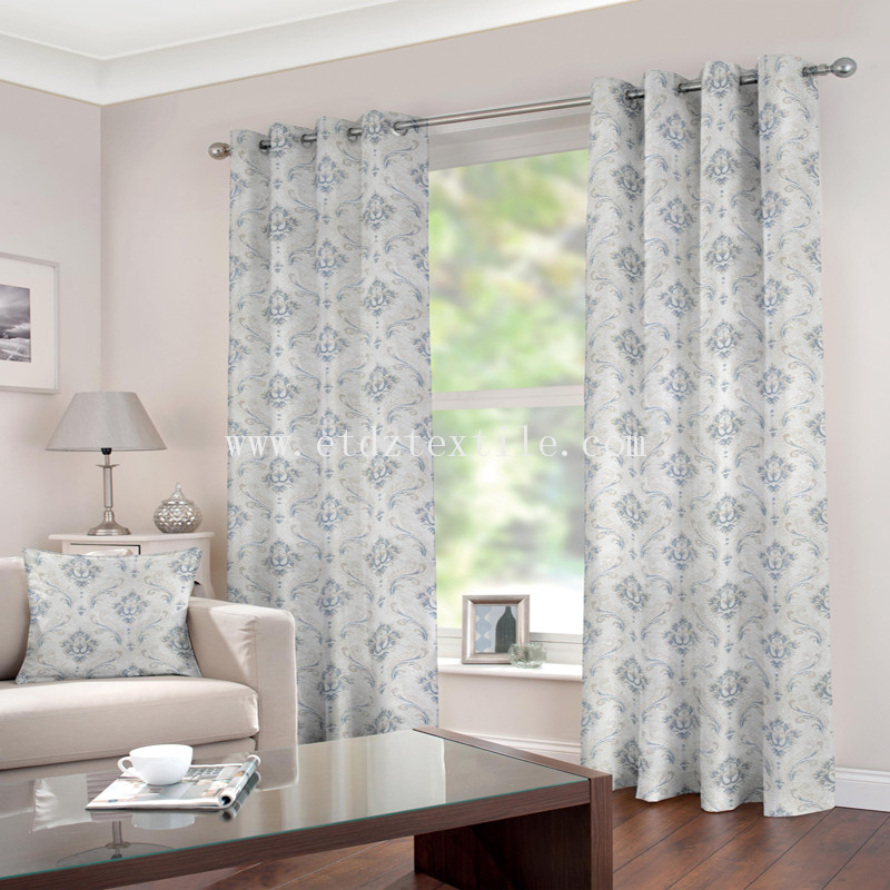 Bright Jacquard polyester curtain BZ009