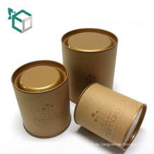 Recycelte Materialien Feature und Geschenk & Craft Industrial Use Runde hochwertige Dose für die Lagerung von Tee oder Zucker