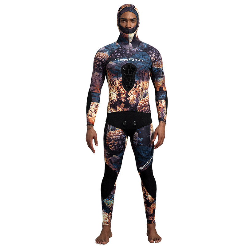 Dw014 Seaskin Two Pieces Camo Wetsuit 12 1