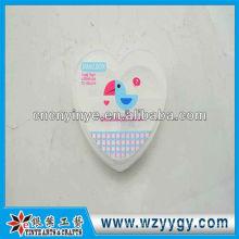 Boîte à pilules en plastique forme coeur personnalisé, impression nouveau pilulier de PVC