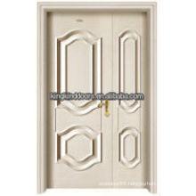 Residential luxury steel wood inner double door King-05D