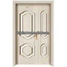 Жилой роскошь стали древесины внутренняя двойная дверь Кинг - 05D