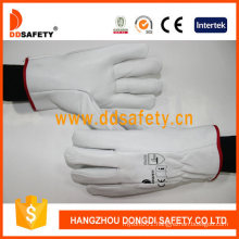 Woman Daily Life Usage Cow Split Leather Work Gloves
