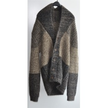Winter Men Patterned Knitted Cardigan with Button